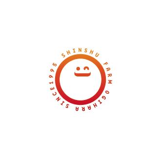 有限会社信州ファーム荻原-SHINSHU FARM OGIHARA-長野県東御市にある農産物の生産・加工・販売、農業作業の代行・請負・委託、農業体験研修の企画・実施、農産物検査業務を行っている会社のロゴマーク作成