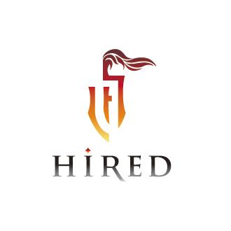 HIRED-東京都荒川区にあるアウトソーシングサービス事業会社のロゴマーク作成