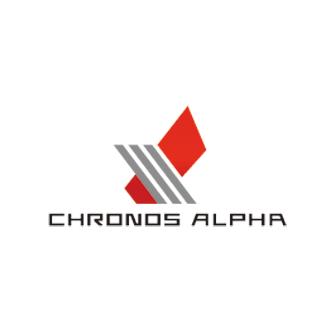 株式会社クロノス・アルファ-CHRONOS ALPHA-東京都港区にある商業設備機器卸、モバイルASPシステム開発・販売催事、イベント企画を手掛ける会社のロゴマーク作成