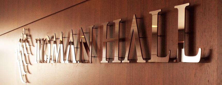 ROMAN HALL-滋賀県草津の音楽ホールのロゴデザイン3